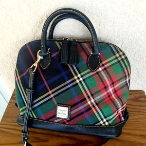 Dooney & Bourke Tartan Plaid Zip-Zip Satchel